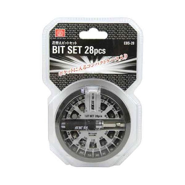 電動ドライバー ドリル用(SK11)差替えビットセット28pcs ebs-28