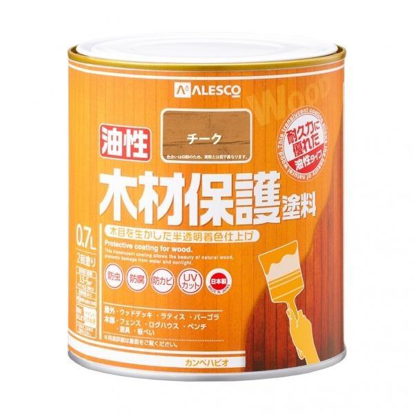 株式会社カンペハピオ(関西ペイント株式会社) 油性木材保護塗料 チーク 119×119×121(mm) 00247643511007