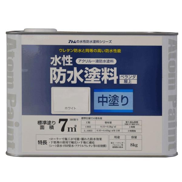 水性防水塗料 中塗り 8kg