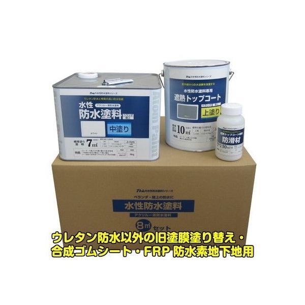 水性防水塗料8平方メートルセット