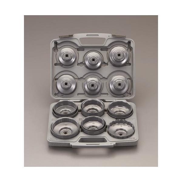 ※法人専用品※エスコ(esco) 17個組 カップ型オイルフィルターレンチセット EA604AP