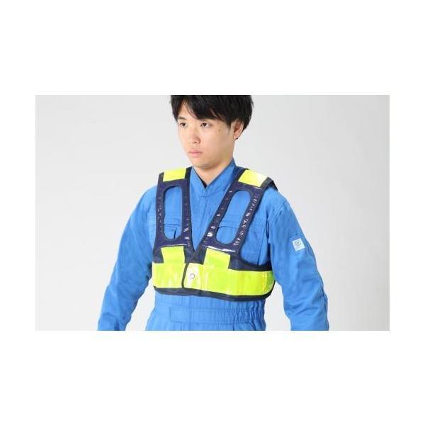 エスコ(esco) 安全ベスト(フルハーネス用/紺・黄) EA983R-252 1枚