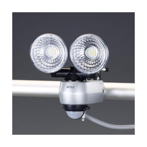 エスコ(esco) [AC100V/7.5W×2] LEDセンサーライト EA864CA-39B