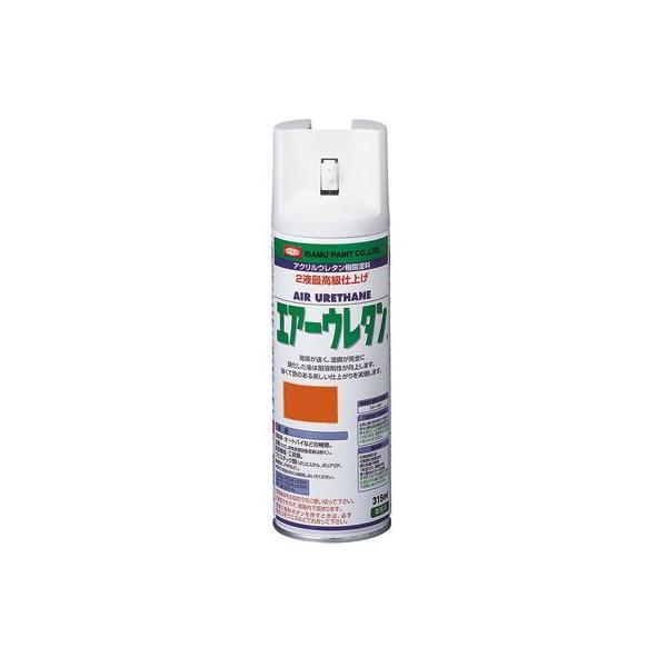 イサム塗料 エアーウレタン/アクリルウレタンスプレー(2液タイプ) ビビットオレンジP 315ml