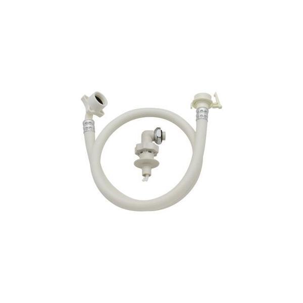 GAONA ホリダー・シモン自動洗濯機用給水ホースワンタッチ給水ジョイントセット オフホワイト 1.5m GA-LC011