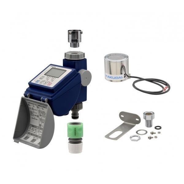 GAONA ガオナ 潅水コンピューター 雨センサー付き (散水タイマー 曜日設定 簡単操作 節水) GA-QE002