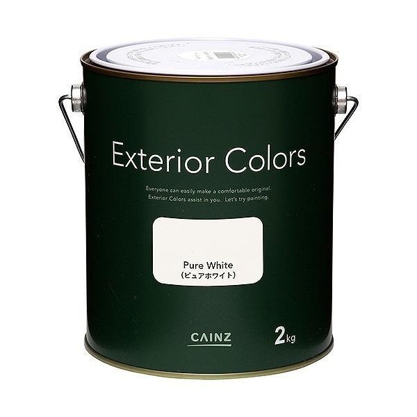 カインズ エクステリアカラーズ 水性塗料 屋外用 ピュアホワイト 2kg