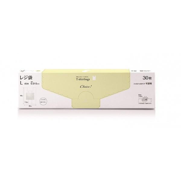 チョイス レジ袋HD-L 半透明 幅25×マチ15×高さ(持ち手を含む)49×厚み0.0015cm CH-THL-30 1個