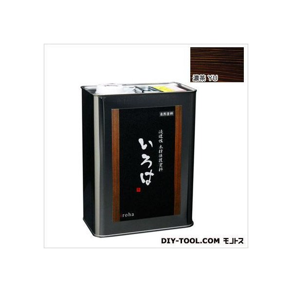 アールジェイ いろはカラー浸透性木材保護塗料 濃茶 3.5L YU-03