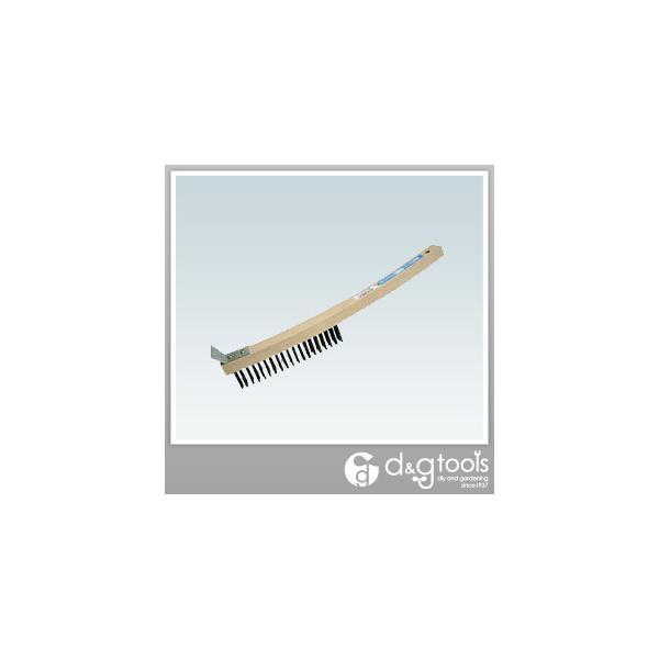 三共コーポレーション 長柄手付きワイヤーブラシ(スクレーパー付) HB-W10 1