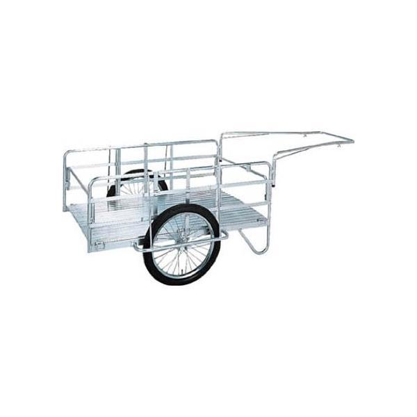 昭和 アルミ折畳みリヤカー  空気入タイヤ 430 x 1370 x 845 mm S8-A2