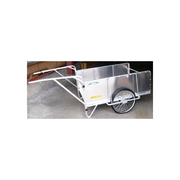 昭和 アルミ折畳みリヤカー 積載面 空気入タイヤ 430 x 1370 x 845 mm S8-A2S