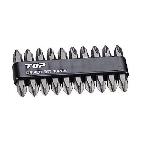 トップ工業 電動ドリル用ドライバビットセット DB2-4510 10本組