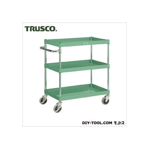 トラスコ(TRUSCO) フレックスワゴン3段省音型 緑 750×500×880 SFLW823