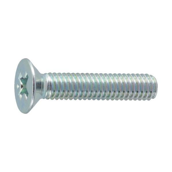 トラスコ(TRUSCO) 皿頭小ネジ三価白サイズM4X5528本入 136 x 69 x 31 mm B702-0455 28本