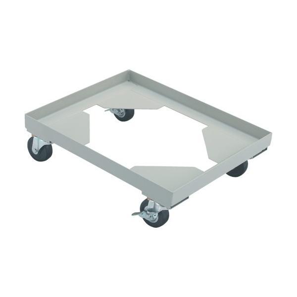 トラスコ(TRUSCO) 箱台車内寸550X390ゴム車自在S付X2 556 x 396 x 148 mm B3BGS