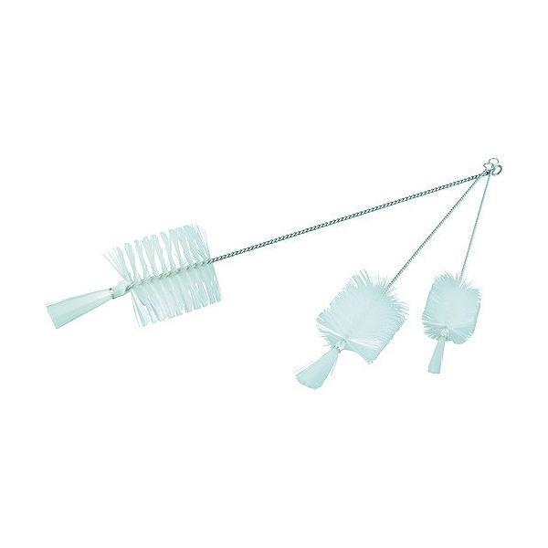 トラスコ(TRUSCO) 理化学ブラシ瓶洗い用ナイロン毛ステンレス柄1号 320 x 90 x 51 mm TBP-S1N