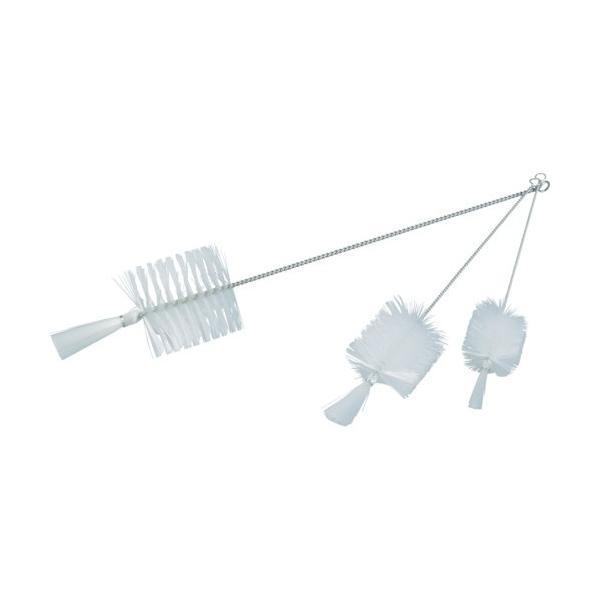 トラスコ(TRUSCO) 理化学ブラシ瓶洗い用ナイロン毛ステンレス柄2号 347 x 55 x 55 mm TBP-S2N