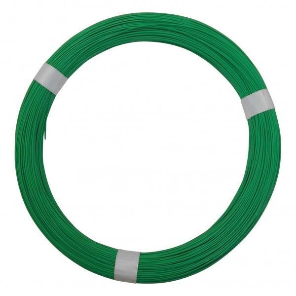 和気産業 カラーワイヤー緑 緑 サイズ#18×181m IW-355