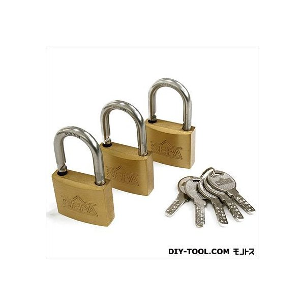 ノーブランド ディンプルシリンダー南京錠 鍵番指定同一 40mm G-266