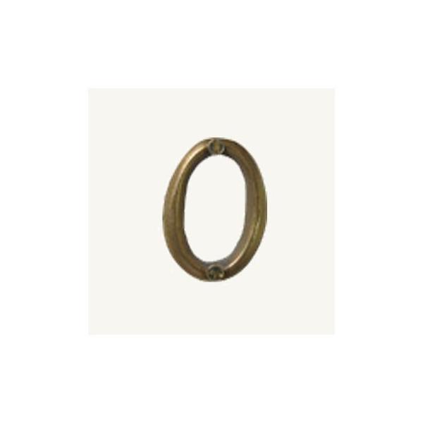 ノーブランド 【在庫限り特価】アンティーク調ナンバーサインハウス・ナンバー・#0 ゴールド 7505-46