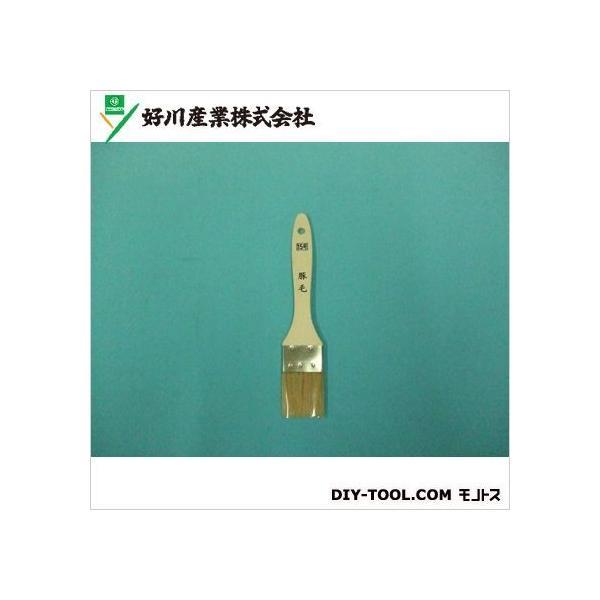 好川産業 白毛金巻ラック刷毛(豚毛) 15号
