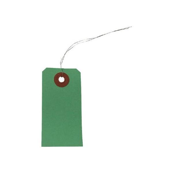 ユタカ 荷札針金付き豆荷札2000枚グリーン 99166 1