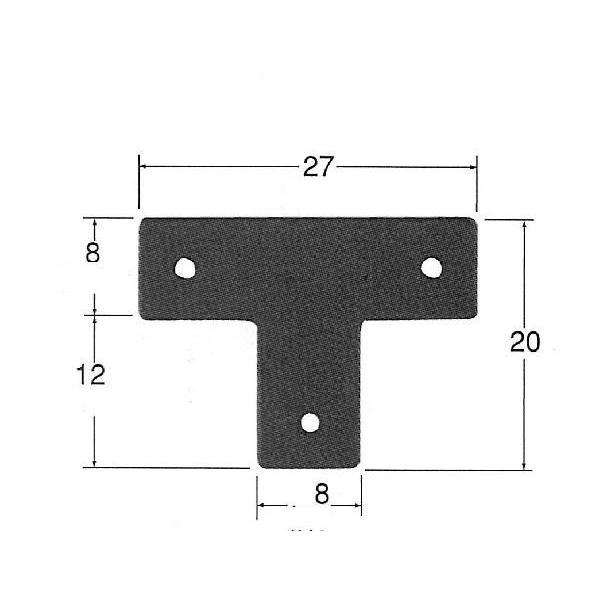 メール便可 鉄製 T字型 LA4 DIY 小箱金具 ミニ金具 装飾金具|diypartner|03
