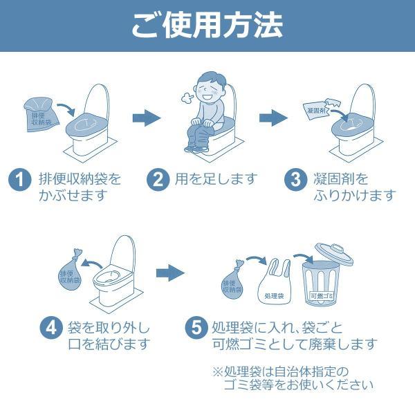 防災グッズ 抗菌 非常用トイレ 洋式30回分 簡易トイレ 防災 災害 介護 日本製 携帯トイレ|diystyle|03
