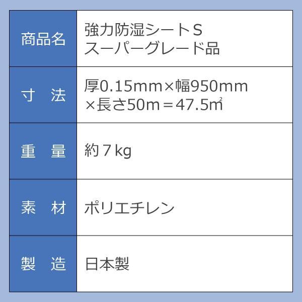 湿気対策 強力防湿シートS スーパーグレード品 50m巻 防湿フイルム 床下 耐水 DIY|diystyle|04