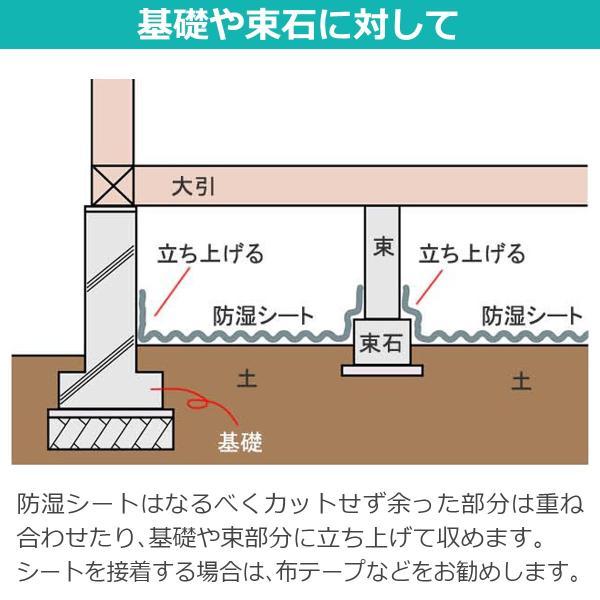 湿気対策 強力防湿シートS スーパーグレード品 50m巻 防湿フイルム 床下 耐水 DIY|diystyle|08