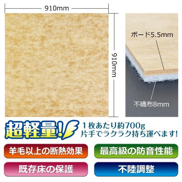 床デコLL35遮音下地材 防音 遮音 軽量 遮音等級LL35  LL45、LL40に対応|diystyle|04