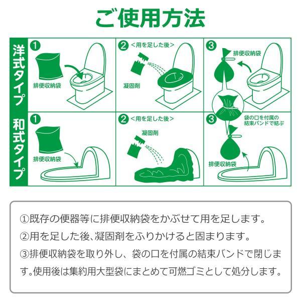 非常用簡易トイレ 強力消臭 100回分 15年保存可 和式 洋式トイレ可能 パワフルDeo diystyle 06