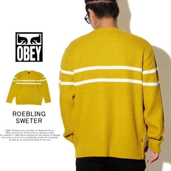 OBEY オベイ クルーネックニット セーター メンズ ROEBLING SWEATER 151000041 2019 秋冬 新作 大きいサイズ|dj-dreams|02
