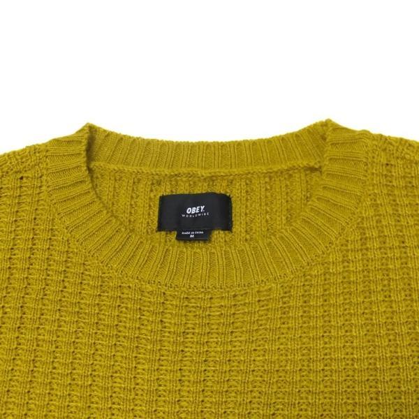 OBEY オベイ クルーネックニット セーター メンズ ROEBLING SWEATER 151000041 2019 秋冬 新作 大きいサイズ|dj-dreams|07