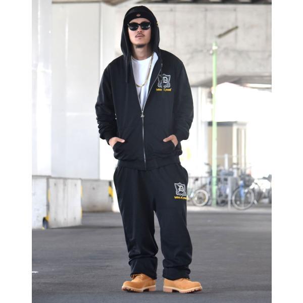 セットアップ メンズ スウェット ブランド 秋冬 大きいサイズ おしゃれ 上下セット LAプリント パーカー スエットパンツ DOP|dj-dreams|07