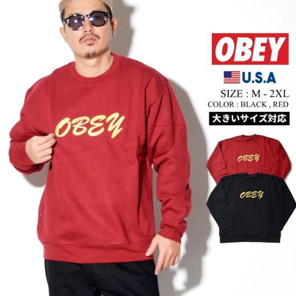 オベイ OBEY トレーナー メンズ スウェット ブランド おしゃれ コーデ 厚手 裏起毛 112480061 大きいサイズ dj-dreams