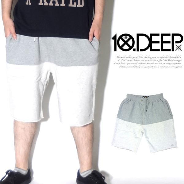 10DEEP ハーフパンツ メンズ 夏 スウェット ブランド ショートパンツ おしゃれ 太め ゆったり 無地 大きいサイズ 残りMサイズ|dj-dreams