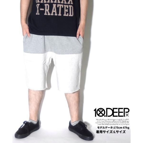 10DEEP ハーフパンツ メンズ 夏 スウェット ブランド ショートパンツ おしゃれ 太め ゆったり 無地 大きいサイズ 残りMサイズ|dj-dreams|02
