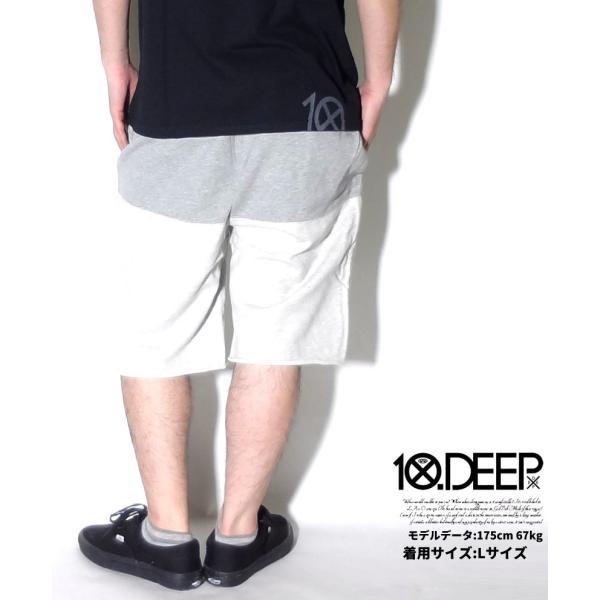 10DEEP ハーフパンツ メンズ 夏 スウェット ブランド ショートパンツ おしゃれ 太め ゆったり 無地 大きいサイズ 残りMサイズ|dj-dreams|03