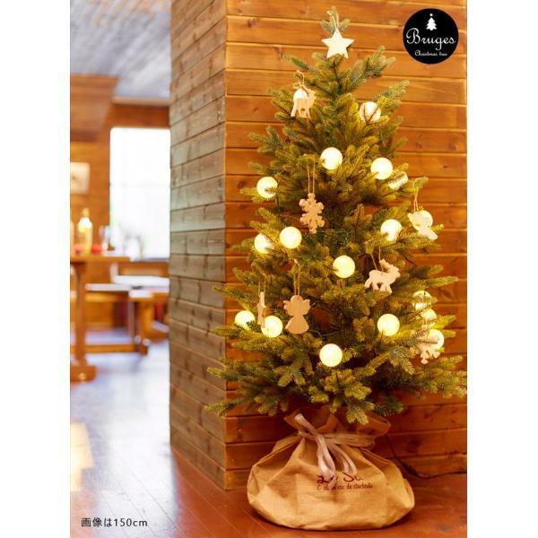 クリスマスツリー 120cm 樅 北欧  おしゃれ led オーナメント 飾り セット 鉢カバー付 ブルージュ クリスマス 子供部屋|dko|14