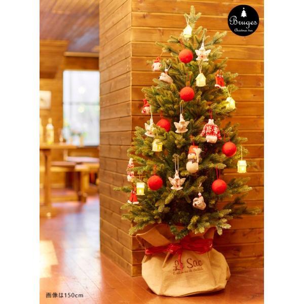 クリスマスツリー 120cm 樅 北欧  おしゃれ led オーナメント 飾り セット 鉢カバー付 ブルージュ クリスマス 子供部屋|dko|16