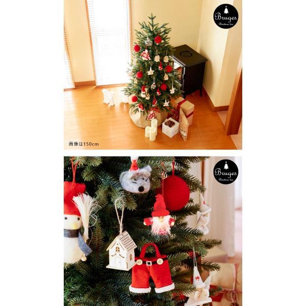 クリスマスツリー 120cm 樅 北欧  おしゃれ led オーナメント 飾り セット 鉢カバー付 ブルージュ クリスマス 子供部屋|dko|05