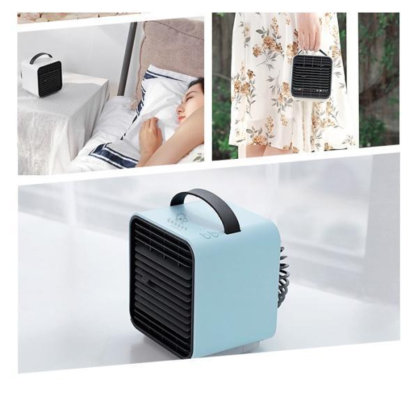 扇風機 卓上 USB 冷風機 冷風扇 ハンディファン ポータブルエアコン ミニエアコンファン 夜間ライト 風量3段階切り替え|dko|15