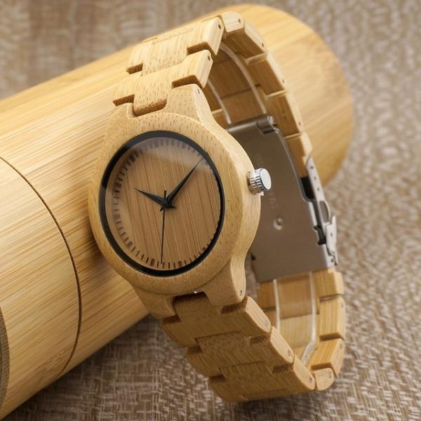 女性 BOBOBIRD L28シンプル竹製女性用腕時計バンド調整可能レディースクオーツ腕時計|dlo