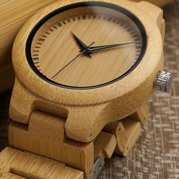 女性 BOBOBIRD L28シンプル竹製女性用腕時計バンド調整可能レディースクオーツ腕時計|dlo|02
