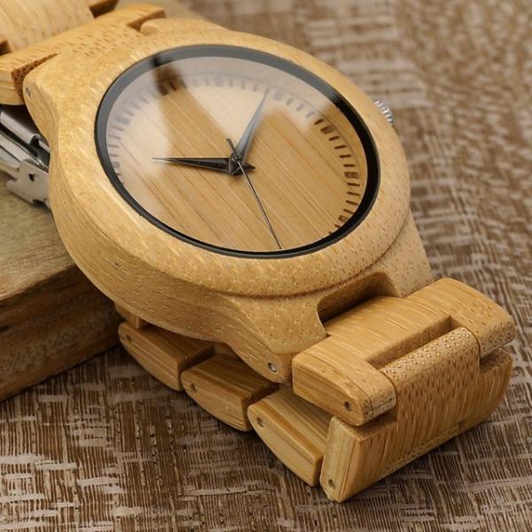 女性 BOBOBIRD L28シンプル竹製女性用腕時計バンド調整可能レディースクオーツ腕時計|dlo|03