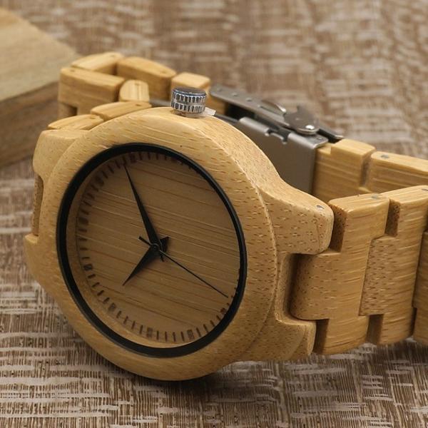 女性 BOBOBIRD L28シンプル竹製女性用腕時計バンド調整可能レディースクオーツ腕時計|dlo|04
