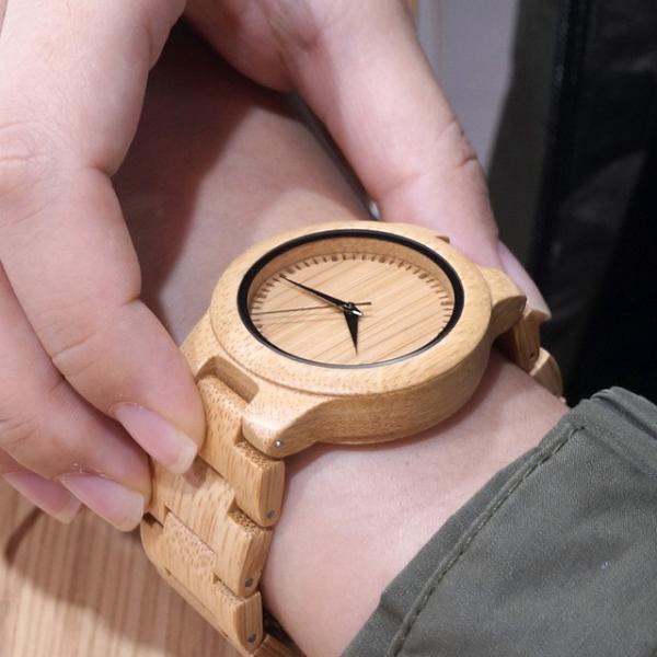 女性 BOBOBIRD L28シンプル竹製女性用腕時計バンド調整可能レディースクオーツ腕時計|dlo|05