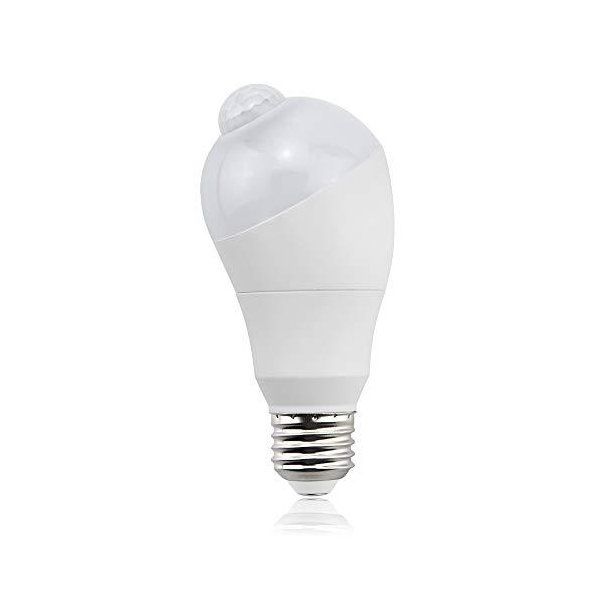 led 電球 人感センサー E26 5W センサーライト 50W形相当 自動点灯/消灯 斜め 360度回転 常夜灯 防犯灯 省エネ 防犯 電球色 1個